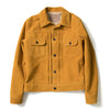 Studio D'Artisan 4437 Suede 2nd Type Jacket (Tan) - Okayama Denim Jacket - Selvedge