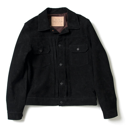 Studio D'Artisan Suede 2nd Type Jacket (Black)