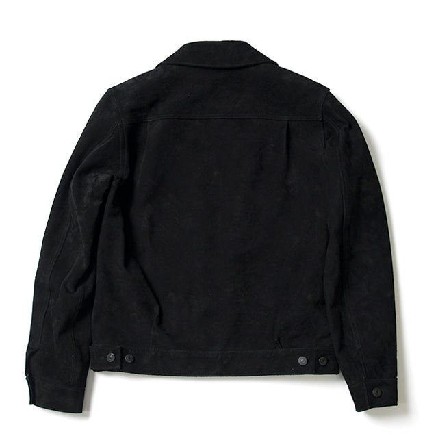 Studio D'Artisan 4437 Suede 2nd Type Jacket (Black) - Okayama Denim Jacket - Selvedge