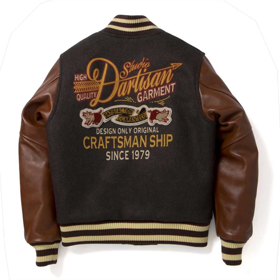Studio D'Artisan 4505S Wool/Horsehide Leather Stadium Jacket