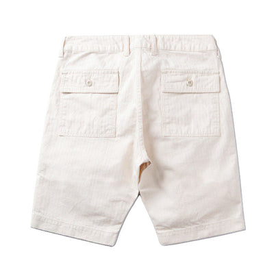 Japan Blue JB5700 Military Herringbone Baker Shorts (Natural) - Okayama Denim Pants - Selvedge