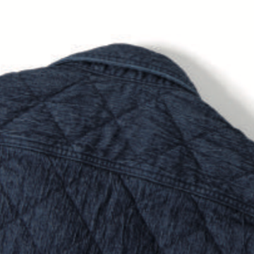 Studio D'Artisan 5634 Quilted Denim Work Shirt - Okayama Denim Shirt - Selvedge