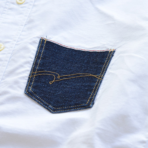Studio D'Artisan Suvin Gold Selvedge Denim Pocket Shirt