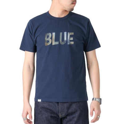 Japan Blue Côte d'Ivoire Cotton Logo Print Tee - Okayama Denim T-Shirts - Selvedge
