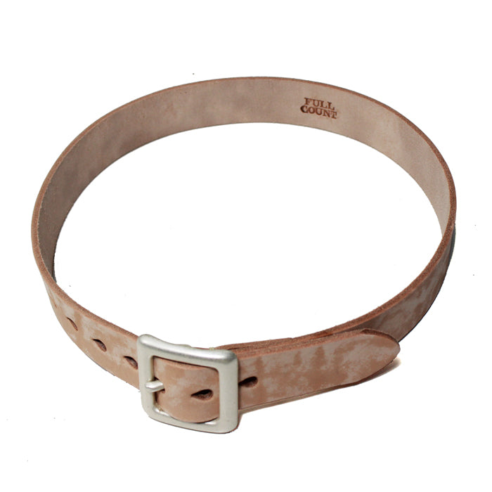 Fullcount 6211 Leather Belt (Beige) - Okayama Denim Accessories - Selvedge