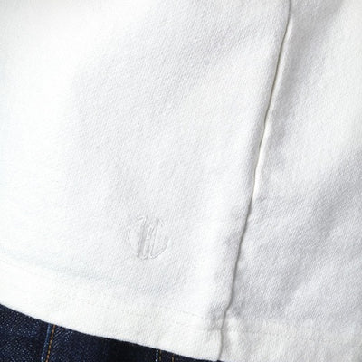 Japan Blue 18 Gauge Super Heavy Inlay Sweat 3/4 Length Tee (White) - Okayama Denim T-Shirts - Selvedge