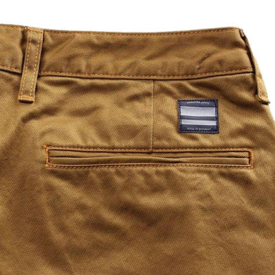 Momotaro High Count West Point Work Pants (Brown) - Okayama Denim Pants - Selvedge