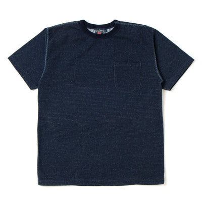 Studio D'Artisan Loopwheel Indigo Dyed Pocket Tee - Okayama Denim T-Shirts - Selvedge
