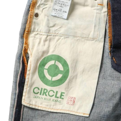 Japan Blue J201 'Circle' Selvedge Jeans (Slim Tapered) - Okayama Denim Jeans - Selvedge