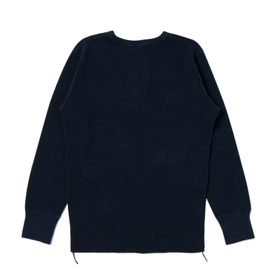 Studio D'Artisan L/S Heavy Thermal Henley (Navy)