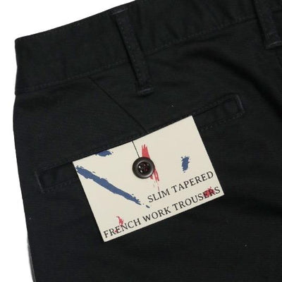 Japan Blue Black French Work Pants - Okayama Denim Pants - Selvedge