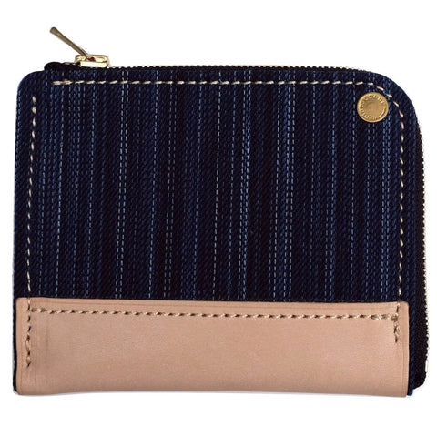 Anachronorm Irregular Denim Wallet (Natural Leather) - Okayama Denim Accessories - Selvedge
