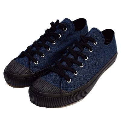 Anachronorm Indigo Dyed Vulcanized Sneakers (Black) - Okayama Denim Accessories - Selvedge