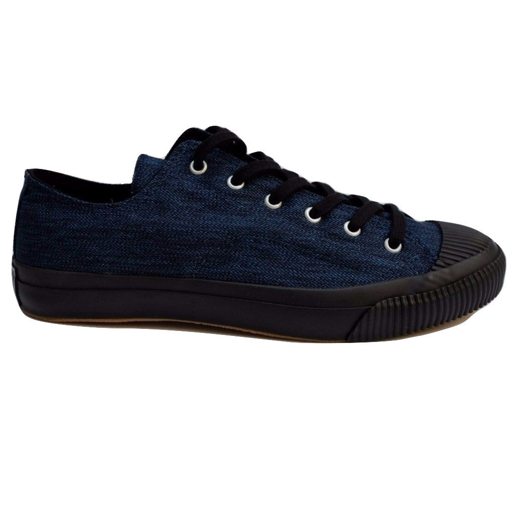 Anachronorm Indigo Dyed Vulcanized Sneakers (Black)