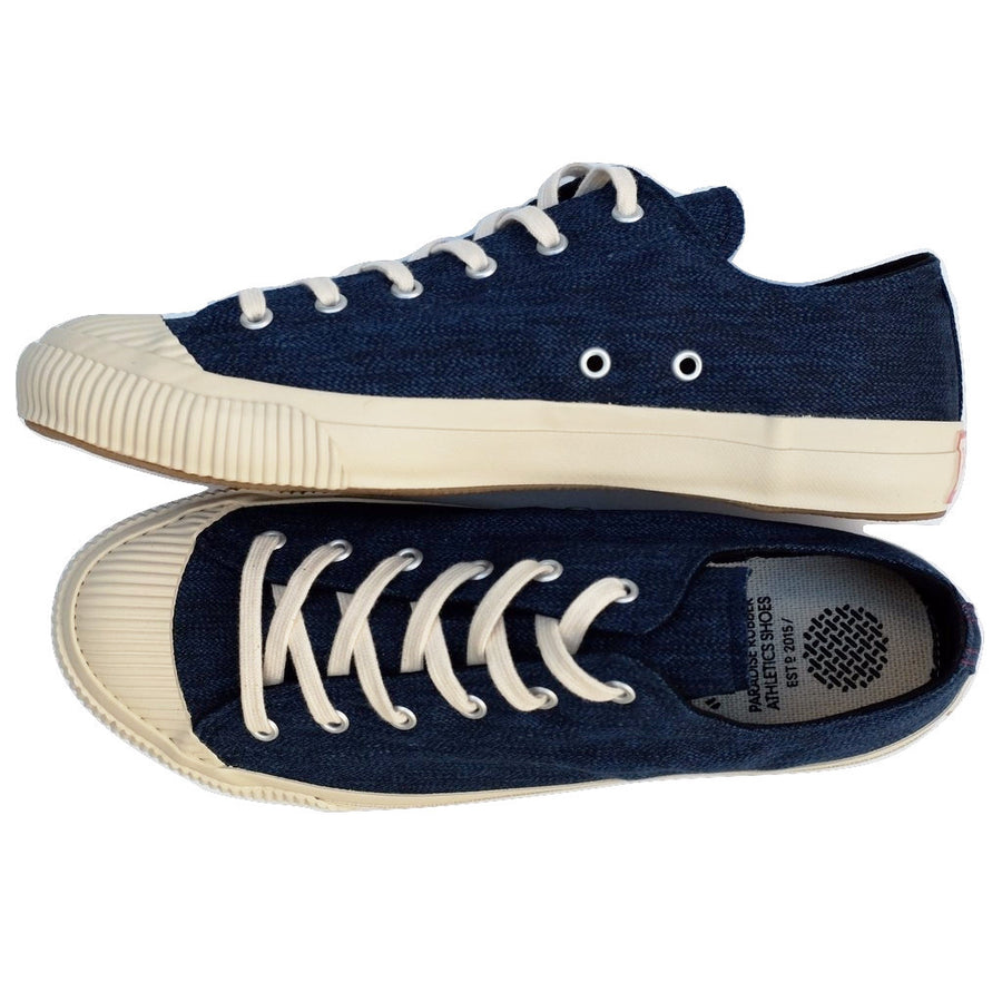 Anachronorm Indigo Dyed Vulcanized Sneakers (White) - Okayama Denim Accessories - Selvedge