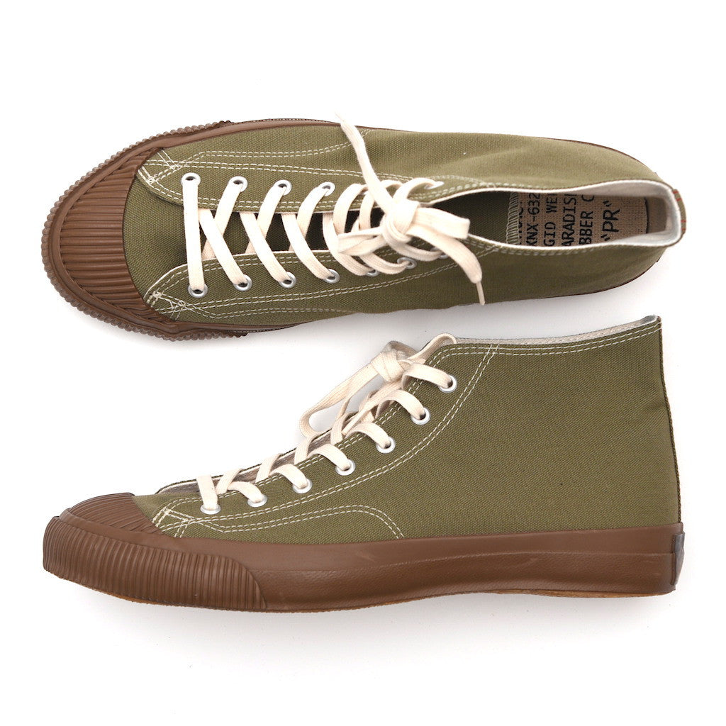 Anachronorm Olive Mid Vulcanized Sneakers - Okayama Denim Accessories - Selvedge