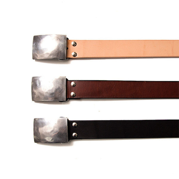 Studio D'Artisan B-83 Flat Buckle Leather Belt