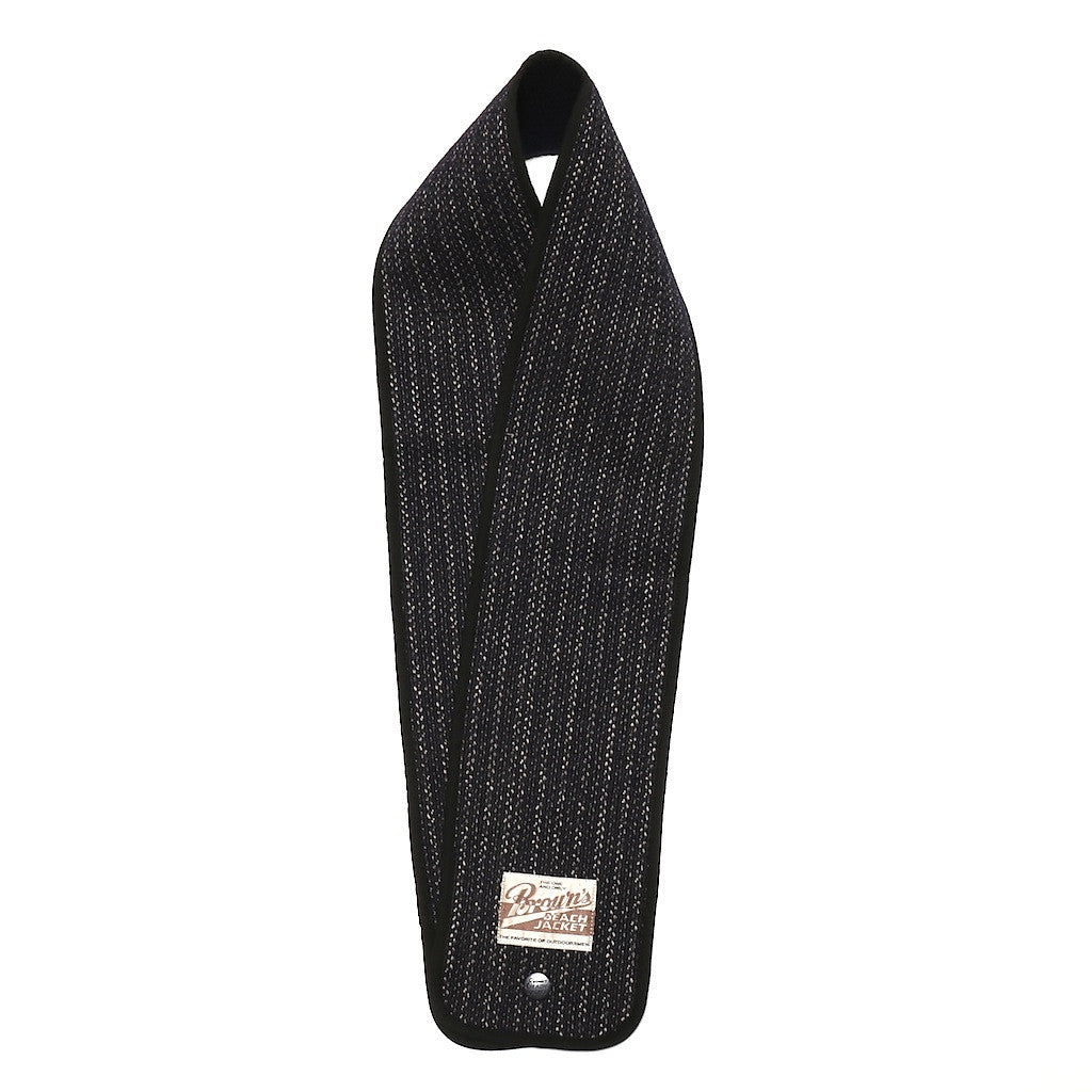 Brown's Beach Muffler (Navy Stripe) - Okayama Denim Accessories - Selvedge