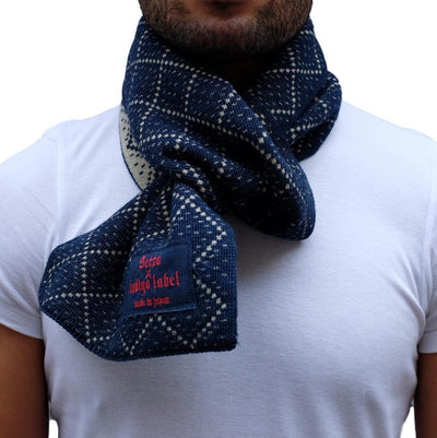 Setto Yarn Dyed Indigo Scarf - Okayama Denim Accessories - Selvedge