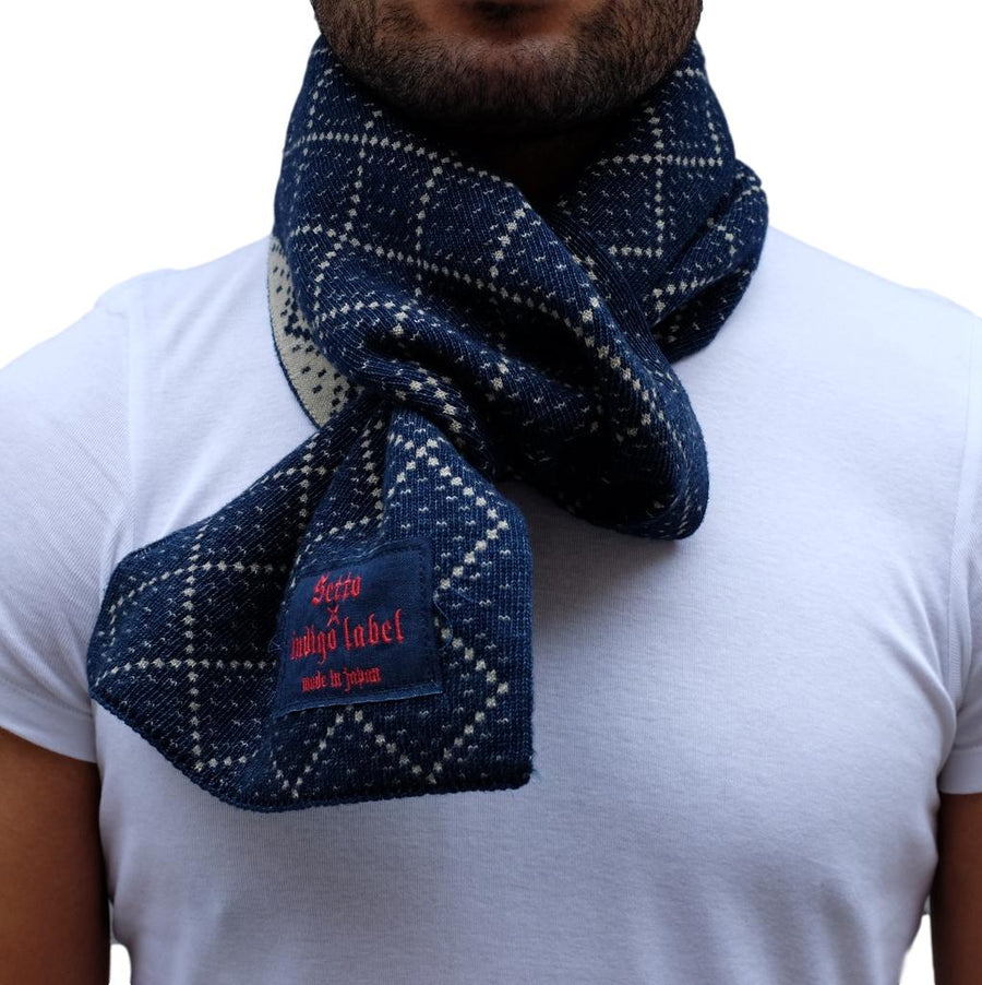 Setto Yarn Dyed Indigo Scarf