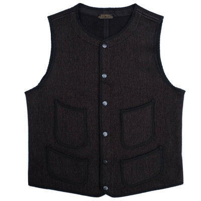 Brown's Beach Early Vest (Black) - Okayama Denim Jacket - Selvedge