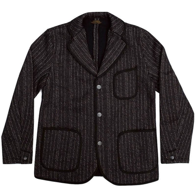 Brown's Beach Tailored Jacket (Navy Stripe) - Okayama Denim Jacket - Selvedge