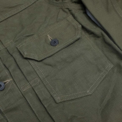 Burgus Plus 13.5oz. Heavy Duck Type 1 Jacket - Okayama Denim Jacket - Selvedge