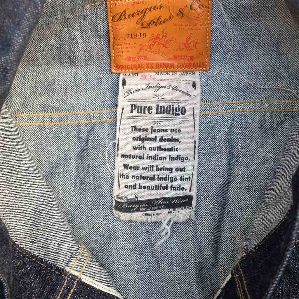 Burgus Plus 71949-XX Natural Indigo Type 2 Trucker Selvedge Jacket