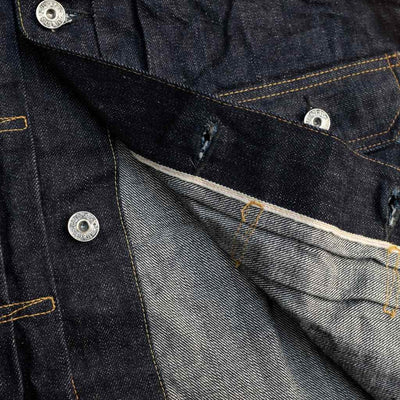Burgus Plus 71949-XX Natural Indigo Type 2 Trucker Selvedge Jacket - Okayama Denim Jacket - Selvedge