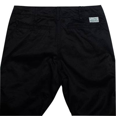 Burgus Plus 401-60 Chino Pants (Black) - Okayama Denim Pants - Selvedge
