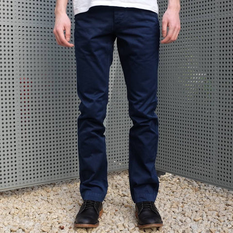 Burgus Plus 401-64 Indigo Dyed Chino Pants
