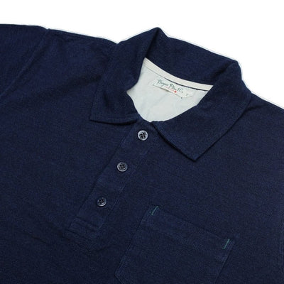 Burgus Plus Indigo Dyed Polo Shirt - Okayama Denim T-Shirts - Selvedge