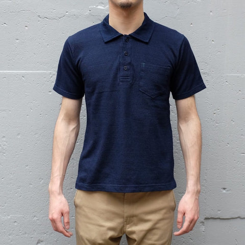Burgus Plus Indigo Dyed Polo Shirt