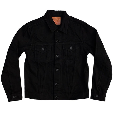Burgus Plus 71955-99 Black x Black Type 3 Selvedge Trucker Jacket