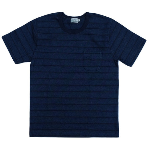 Burgus Plus Indigo Dyed Border Tee