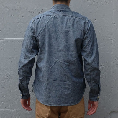 Burgus Plus 5oz. Selvedge Chambray Work Shirt (Indigo) - Okayama Denim Shirt - Selvedge