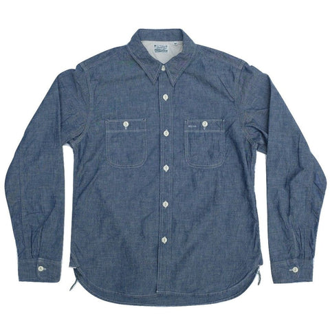 Burgus Plus 5oz. Selvedge Chambray Work Shirt (Indigo)