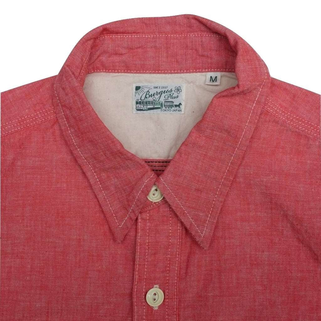 Burgus Plus 5oz. Selvedge Chambray Work Shirt (Red)