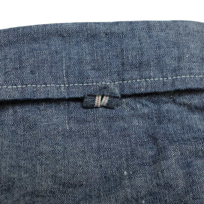 Burgus Plus 5oz. Short Sleeve Selvedge Chambray Work Shirt (Indigo) - Okayama Denim Shirt - Selvedge