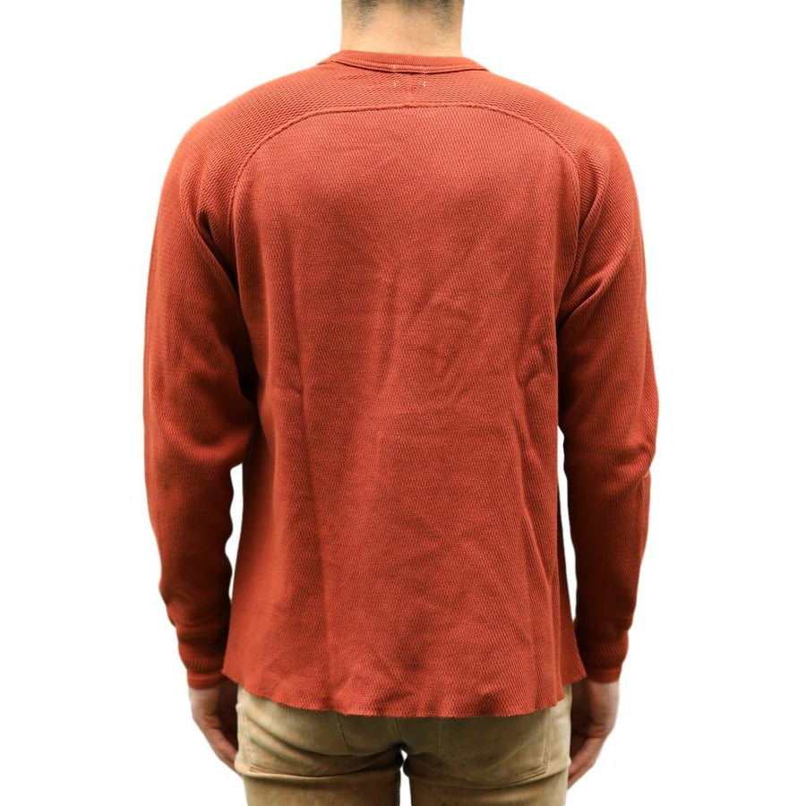 Loop & Weft Combed Yarn High Tension Honeycomb Thermal LS Tee (D.Cherry)