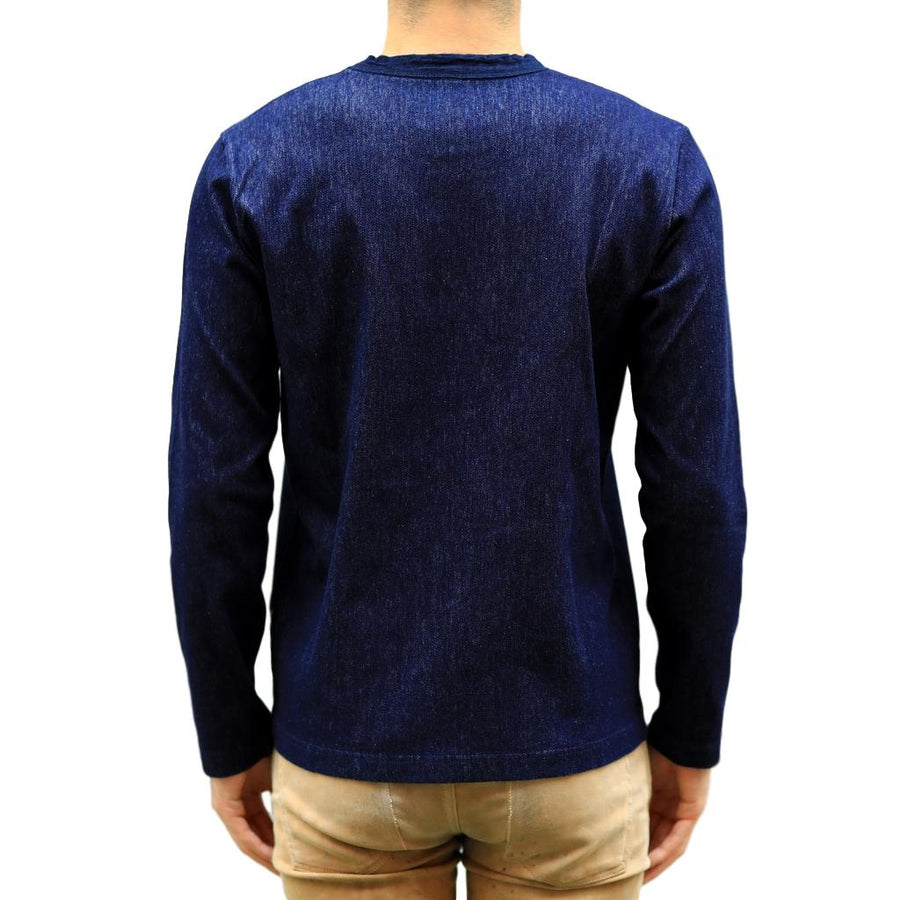 Pure Blue Japan Indigo Twill Jersey LS Tee