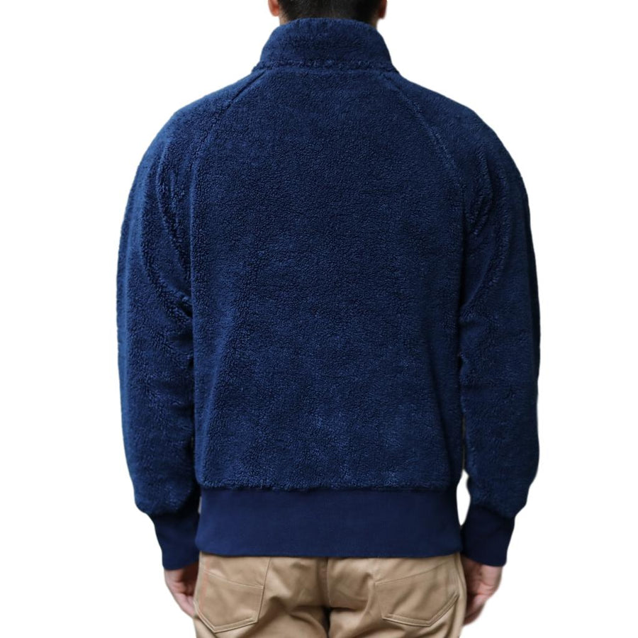 Studio D'Artisan Indigo Boa Fleece Jacket