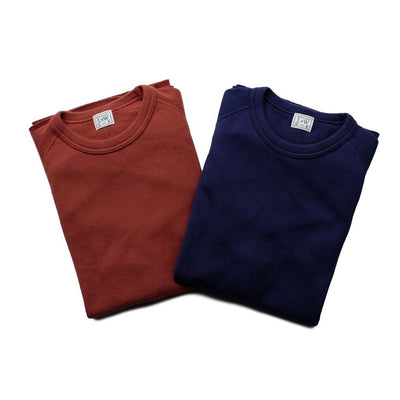Loop & Weft Combed Yarn High Tension Honeycomb Thermal LS Tee (Navy)