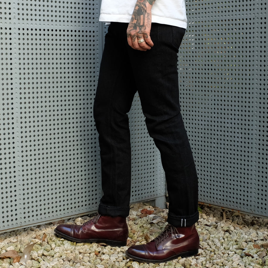 "OD+PBJ 14oz. ""Kurokin"" Black Selvedge Jeans (Relaxed Tapered)"