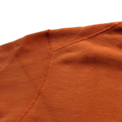 Loop & Weft Vintage Jacquard Knit Crewneck Sweatshirt (Orange)