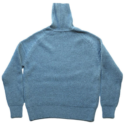 Loop & Weft Merino Lambswool Big Waffle Commando Turtleneck Sweater