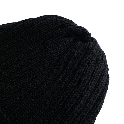 The Factory Made Black Knit Watch Cap