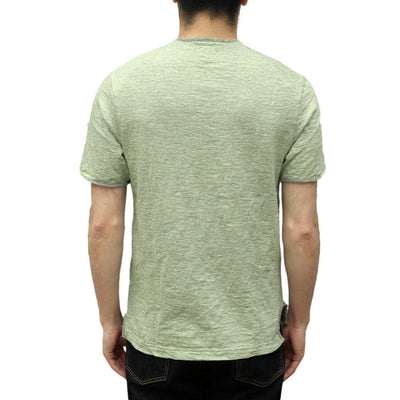 Loop & Weft Edge Piping Heather Slub Knit Crewneck Tee (Green)
