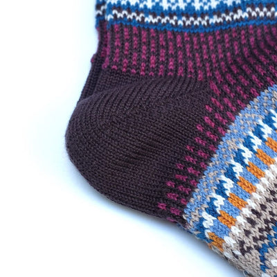 Chup Socks Mezs (Chocolate) - Okayama Denim Accessories - Selvedge