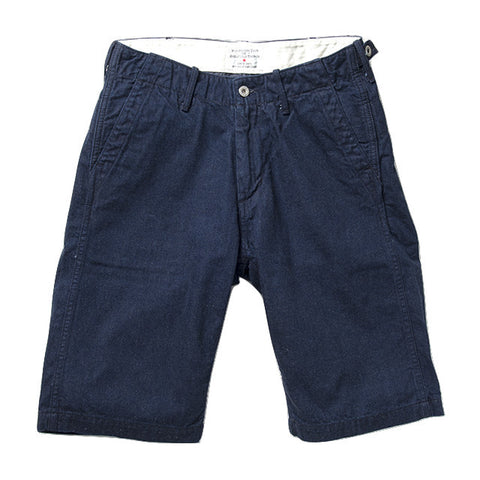 Studio D'Artisan Indigo Dyed Denim Deck Crew Shorts